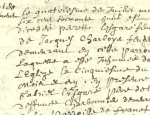 CHARLOIS – New genealogical discoveries